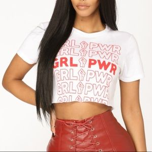 Girl Power Cropped T-Shirt